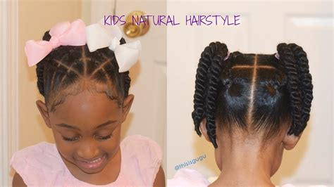 Kids/little Girls Easy Quick Natural Hairstyles| Back To