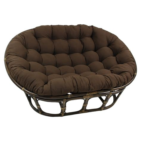 international caravan rattan double papasan chair