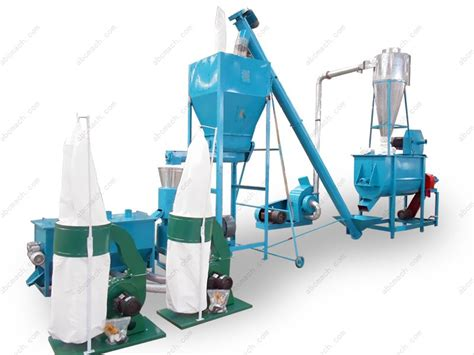 small poultry feed mill machine for 1 tph animal feed pellet line