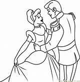 Cinderella Prince Charming Coloring Pages Dancing Cartoon Printable Coloringpages101 Disney Princess Pdf Categories sketch template