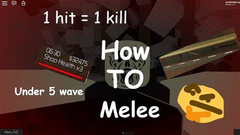 Synapse is the #1 exploit on the market for roblox right now. Roblox (The final stand 2) How to use melee - YouTube