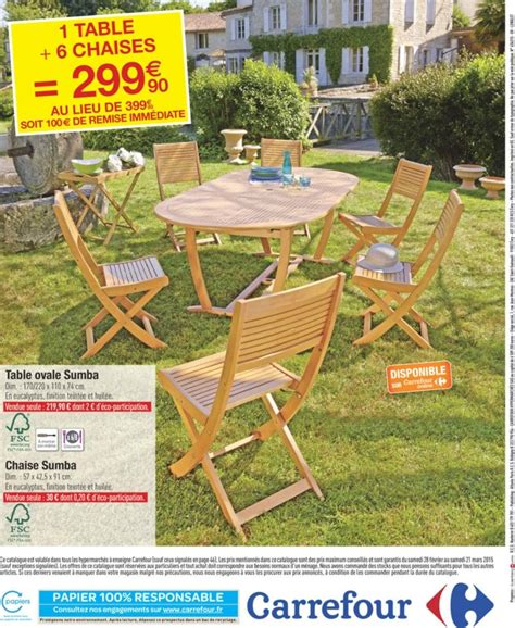 ensemble table et 6 chaises ensemble table et chaise de jardin carrefour phil