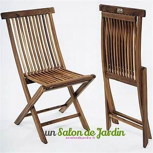 Chaise Jardin Bois : chaise en bois de jardin ~ Teatrodelosmanantiales.com Idées de Décoration