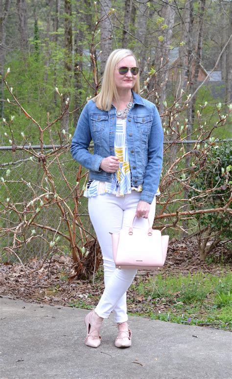 denim white blush trendy wednesday link