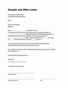 offer letter sample template learnhowtoloseweightnet With offer of employment letter template free