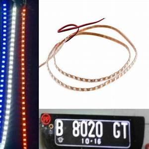 Lampu Plat Nomor Led Strip 90 Cm Merah Biru Putih Di Lapak