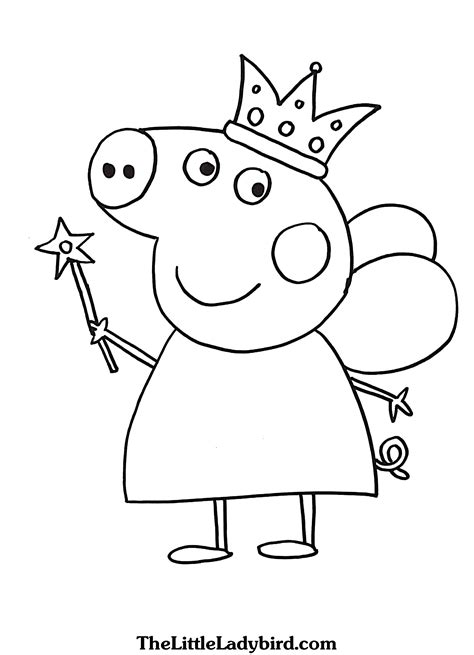 Coloring Peppa Pig by Free Peppa Pig Coloring Pages Thelittleladybird