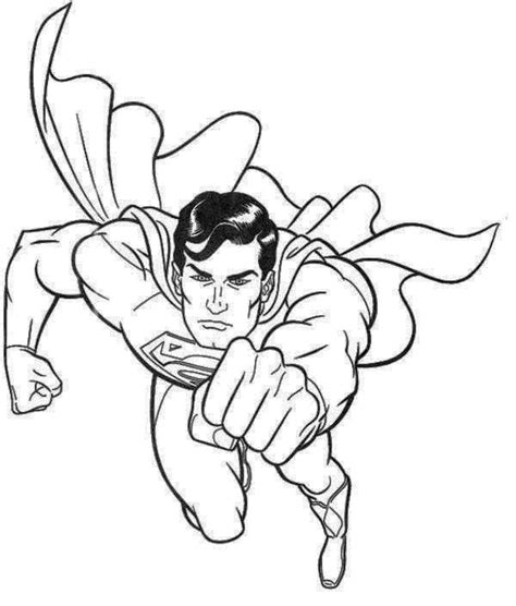 handsome superman coloring page superman planet