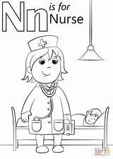 Nurse Coloring Letter Pages Printable Preschool Sheets Preschoolers Nurses Nursing Crafts Nest Supercoloring Activities Alphabet Letters Community Doctor Worksheets Printables sketch template