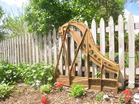 The Harp From A Repurposed Baby Grand Piano Has Been Moved