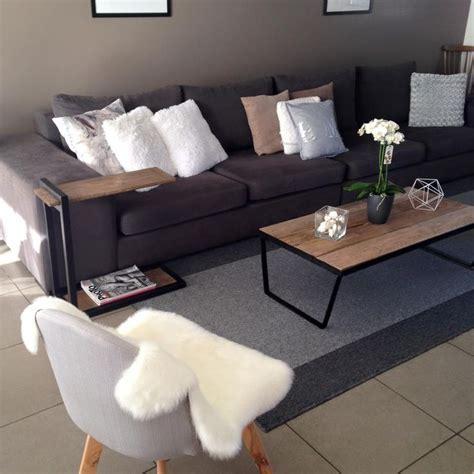 canapé fait maison mon home home grand canapé gris chaise de salon au
