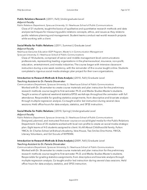 philip johnson curriculum vitae cv august 2014