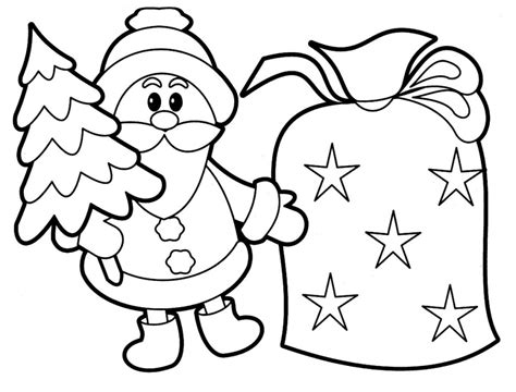 printable santa claus coloring pages  kids