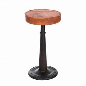 Tabouret De Bar En Cuir : tabouret de bar en m tal noir et cuir j line achat ~ Dailycaller-alerts.com Idées de Décoration