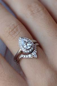 Vendor inspiration 12377 for Wedding band for teardrop engagement ring