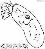 Cucumber Coloring Pages Drawing Colorings Getdrawings sketch template