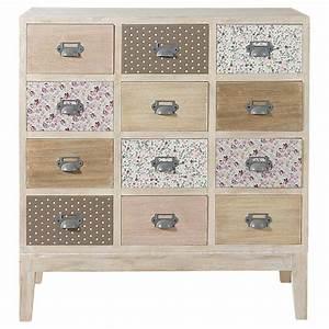 Cabinet Maison Du Monde : cabinet commode 12 tiroirs en bois l 75 cm ~ Nature-et-papiers.com Idées de Décoration