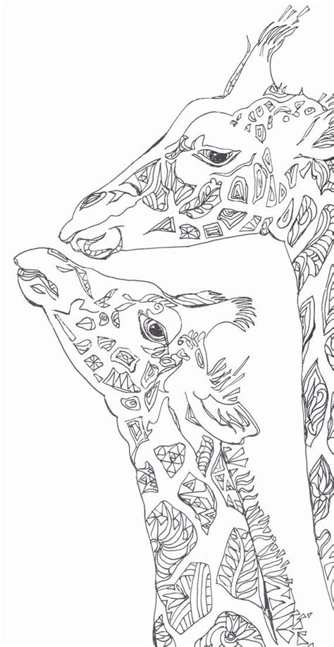 coloring pages printable adult coloring book giraffe clip art