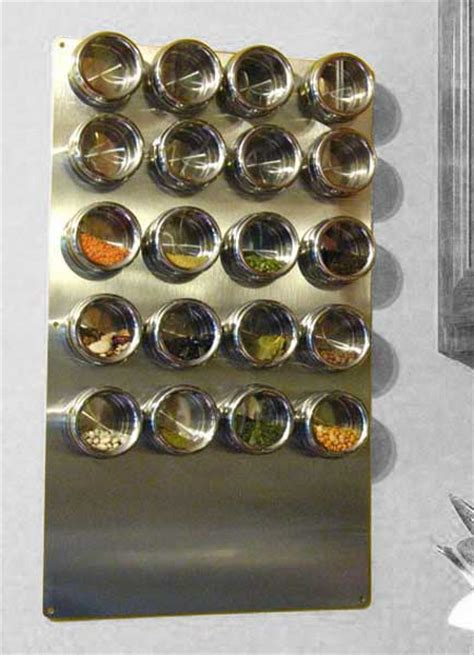 stainless wall plate  magnetic spice tins riversedge products