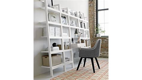 ladder shelf desk white sawyer white leaning desk with two 245quot bookcases in