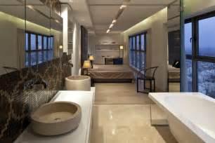 stunning open plan bathroom in your bedroom designs home neutral bedroom bathroom basin interior design ideas