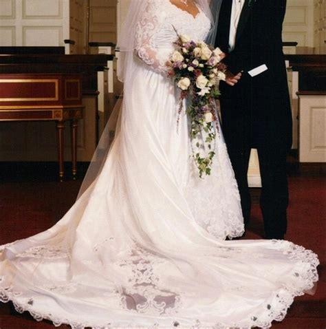 davids bridal gloria vanderbilt wedding dress tradesy
