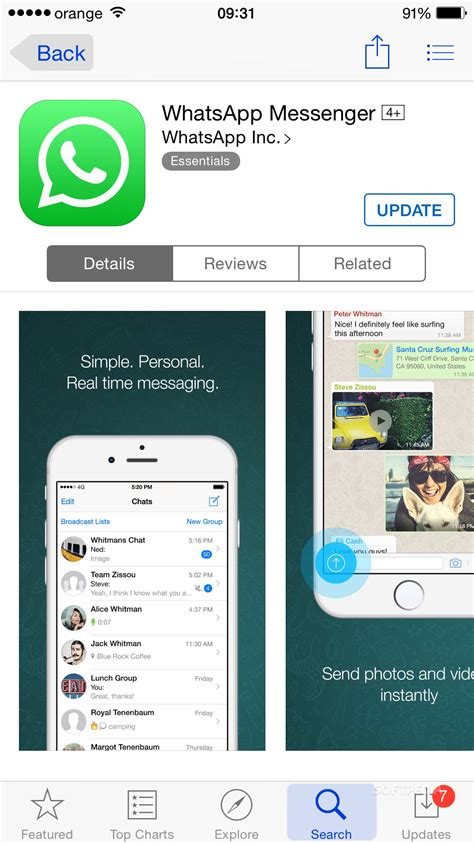 whatsapp messenger 2 11 14 with iphone 6 support