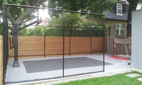 Sports Nets For Backyard by 25 Best Ideas About Backyard Basketball Court On