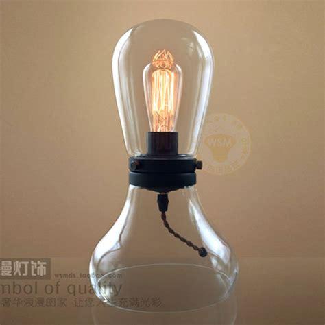 edison bulb table l mini dimmer clear glass table l retro modern edison