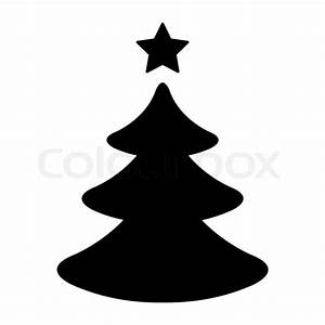 Simple Black And White Christmas Tree Stock Vector