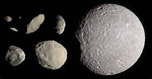 Saturn's innermost moons: Pan, Daphnis, Atlas, Prometheus ...
