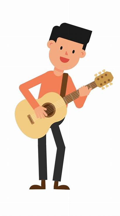 Guitar Playing Clipart Animation Standing Whip Transparent