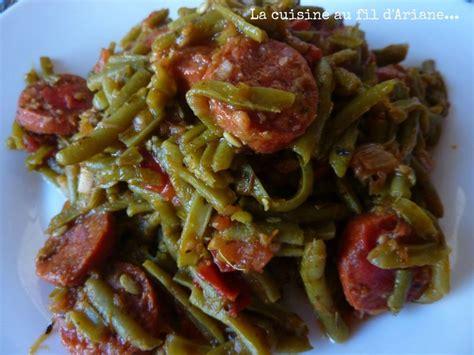 cuisiner des haricots plats haricots verts au chorizo test des recettes du concours