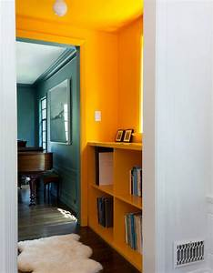 Porte De Couloir : peindre son couloir en couleur l astuce d co parfaite pour looker son int rieur elle d coration ~ Nature-et-papiers.com Idées de Décoration