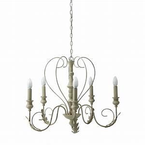 Maison Du Monde Lustre : lustre 5 branches en m tal beige d 63 cm charlotte ~ Melissatoandfro.com Idées de Décoration
