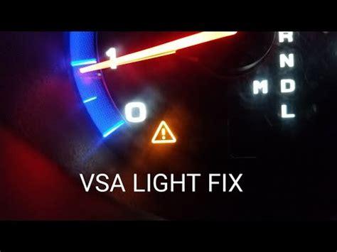honda odyssey vsa warning light stays