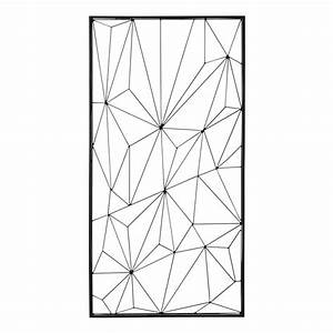 Deco Metal Mural : d co murale en m tal noire 62 x 121 cm network maisons du monde ~ Nature-et-papiers.com Idées de Décoration