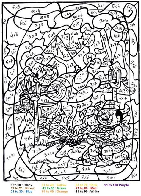characters color  number coloring pages bbq