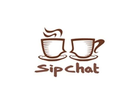 Only 1 available and it's in 2 people's carts. sipchat-logo-design   Coffee shop names, Coffee shop logo, Shop name ideas