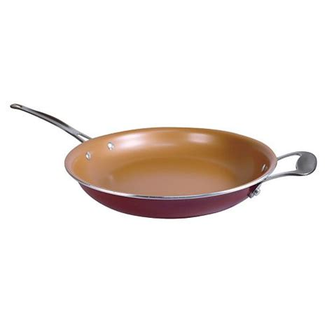 red copper   ceramic copper infused frypan    tv
