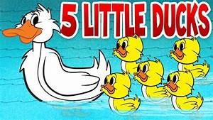 Five Little Ducks - Spring Songs for Children with Lyrics ...