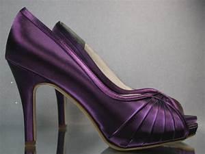 SALE Wedding Shoes -- Plum Peep Toe Wedding Shoes - Choose ...