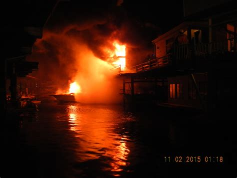 Unattended Candle Causes Marina Fire
