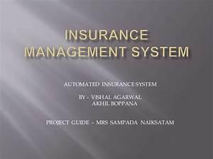 Insurance Management System Ppt