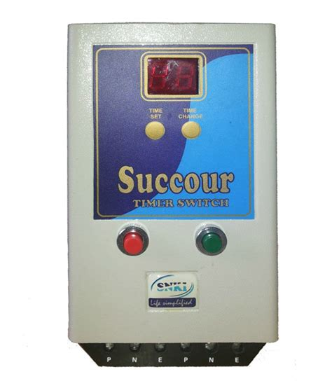 Buy Succour Timer Switch For Single Phase Motor Pump Upto