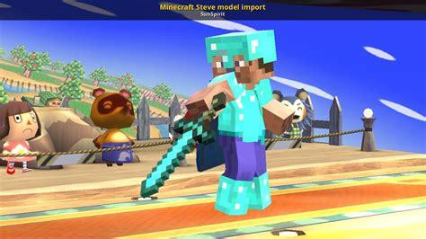 minecraft steve model import super smash bros wii