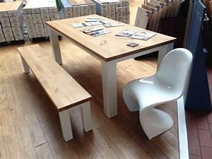 Tisch Für Balkongeländer : tisch eiche wei lack mit bank schreinerei rolf sch fer ~ Whattoseeinmadrid.com Haus und Dekorationen