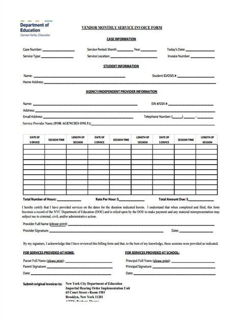 service invoice form samples  sample
