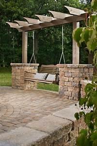 gartengestaltung ideen schaukel pergola wohnen outdoor With katzennetz balkon mit garden pergola