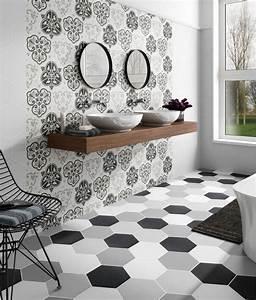Faux Carreaux De Ciment : carrelage imitation carreau de ciments hexagonaux eguilles ~ Dailycaller-alerts.com Idées de Décoration